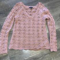 Womens American Eagle Knit Sweater Light Pink Blush Size Medium Photo