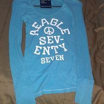 Women's American Eagle Long John Shirt...med Photo