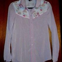 Women's American Eagle Outfitters Blush Western Style Blouse- Size S Photo