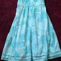 Women's American Eagle Outfitters Turquoise Sundress S/p Cotton Polyester Knit Photo