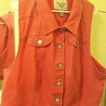 Women's American Rag Denim Vest 2x Photo