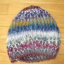 Women's American Rag's Striped Beanie Winter Hat. One Size Fits All. Euc Photo
