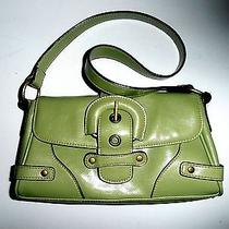 Women's Android Green Brass and Brown Trim Satchell or Shoulder Bag 10