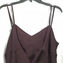 Womens Ann Taylor Loft Dark Purple Cami  Tank Top Size 8 Nwot Photo