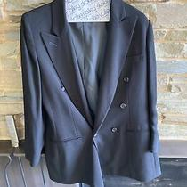 Womens Anne Klein Ii Black Double Breasted Blazer Size 6 Petite Photo