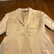 Womens Anne Klein Suit Jacket Size 8 Tan Look Photo