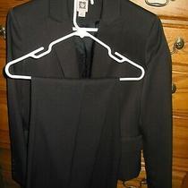 Women's Anne Klein Suit Size 8 Black Pants Jacket Photo