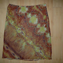 Women's Anthropologie Watercolor Tie Dye Print Skirt - Lined - 12 Photo