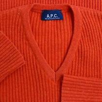 Women's Apc Made in France Wool Orange Longsleeve Pulovere Sweater 14us M Photo