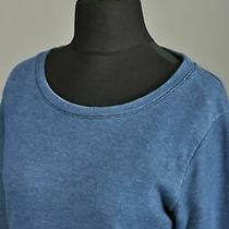 Women's Apc Scoop Neck Pullover Sweatshirt Jumper Cotton Blue Size M Photo