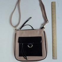 Women's Apt 9 Satchel Blush Pink & Black Hand Bag Purse Style Ladies Tote Photo