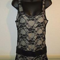 Women's Arden B Black Sleeveless Lace Dress Size M Photo