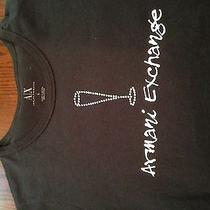Women's Armani Exchange Champagne Flute T Shirt. Size Large Photo