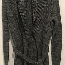 Womens Armani Exchange My Sweater Coat  Charcoal With Silver Xs Photo