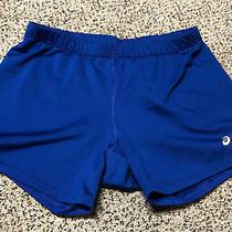 Women's Asics Blue Spandex Shorts Medium Photo