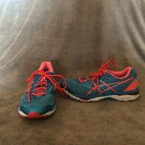Women's Asics Gel Cumulus 18 Casual Running Shoes Blue & Coral Size 8.5 D Photo