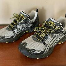 Womens Asics Gel-Kahana Athletic Running Shoes Size 8  Gray/yellow Photo