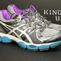 Women's Asics Gel-Nimbus 14 Running Shoes Charcoal Blue Size 8.5 Photo