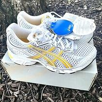 Women's Asics Gel Pulse Size 7 /38 White Yellow Silver Running Shoes New Photo