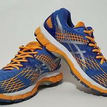 Women's Asics Sz 9.5 Gel Nimbus 17 Running Shoes Sneakers Blue Orange Silver Photo