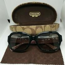 Women's Authentic Coach Sunglasses Case & Cleaning Cloth Style Ella L013 Black Photo