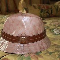 Women's Authentic Gucci Bucket Hat/fedora Size L Euc Worn Once Photo
