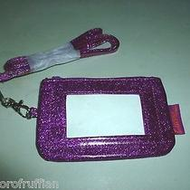 Women's Avon Curve to Go  Purple Sparkle Pvc Necklace Zip Id Keyring Pouch Photo