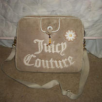 Women's Bag Designer by Juicy Couture Computer Bag/shoulder Bag Beige Photo