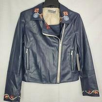 Women's Bagatelle Faux Leather Moto Jacket Size Medium New Photo