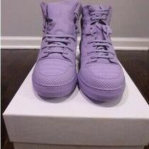Women's Balenciaga Perforated High Top Sneakers in Lavender 41(euro) Photo