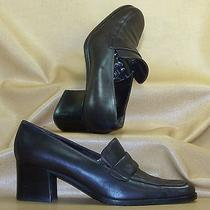 Women's Bally Floria Brown Glove Leather Closed Toe Loafers/pumps Size 40 Photo
