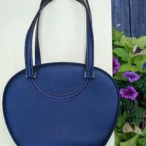 Women's Bally Leather Round Navy Leather Handbag  Photo