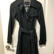 Women's Banana Republic Black Trench Coat Size Xs Photo