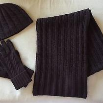 Women's Banana Republic Chocolate Brown Scarf Gloves & Hat Photo