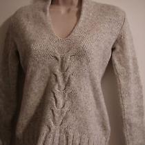 Women's Banana Republic Gray  Lambs Wool Cashmere Sweater Size S Photo