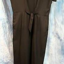 Women's Banana Republic Size 6 Black Short Sleeve Tie Front Jumpsuit Nwt 110 Photo