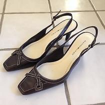 Women's Bandolino Dark Brown Leather Heels Slingbacks Macy's Size 7.5 Photo