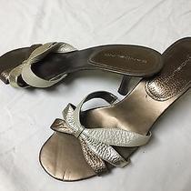 Women's Bandolino Metallic Copper Open Toe Heel 9.5 M  Photo