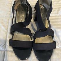 Women's Bandolino Shammy Navy  Patent Strap Pump Shoes 8.5 Photo