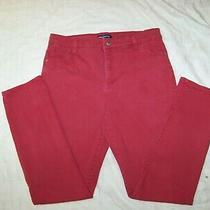Women's Bandolino Stretch Jeans - Amy - Size 10 - Dark Red Denim Photo