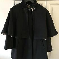 Womens Barbour Coat Size 8 Black - Gold Label Capriole Cape/worn Once Rrp 600 Photo