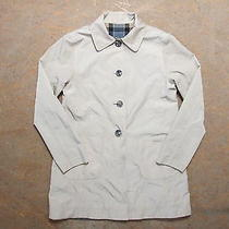 Women's Barbour Reversible Derby Mac Trench Coat Jacket Size 10 Genuine Photo