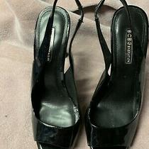 Womens Bcbg Generation Peep Toe Heels Slingback Platform Pumps Black Size 8.5 Photo