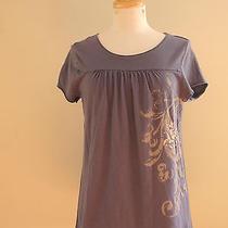 Women's Bcbg Paris Size Small Short Sleeve Floral Print Knit Shirt Top Blouse Photo