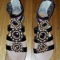 Women's Beaded Gladiator Sandal Size 6.5  36.5 Kensie Girl Photo