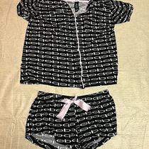 Womens Bebe Sleepwear Pajama Set Shorts and Shirt Size Small Photo