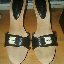 Women's Bebe Wooden Heels Size 8 Photo