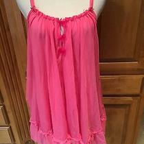 Women's Betsey Johnson Pink Nighty Sz S Photo