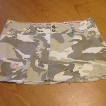 Women's Billabong Tan Camoflauge Cotton Skirt Size 9 New With Tags Nwt Photo