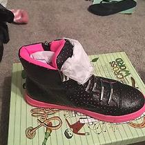 Women's Black and Pink Jeffrey Campbell Sneakers Size 8 Photo
